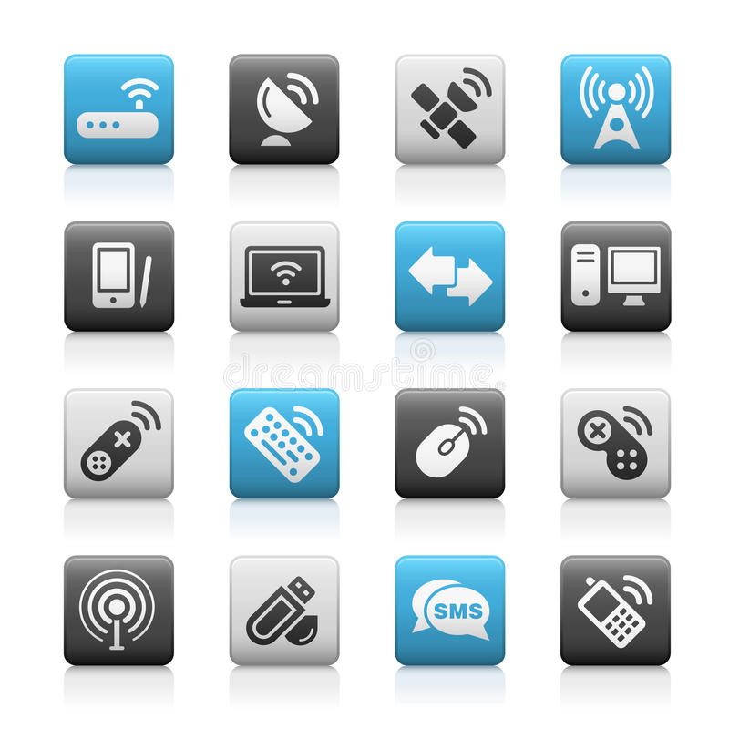 Download Wireless & Communications // Matte Icons Series Royalty Free Stock Photo - Image: 13257935