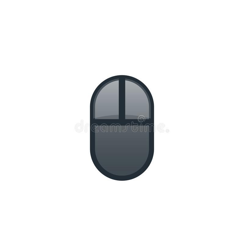 Wireless computer mouse icon vector illustration
