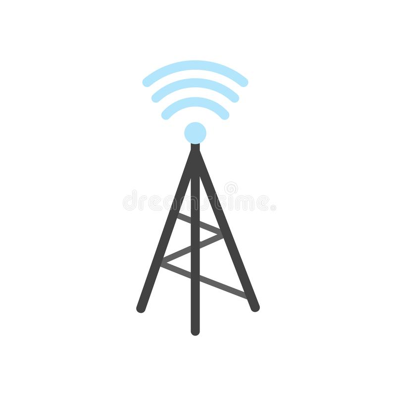Wireless connectivity icon vector sign and symbol isolated on wh royalty free illustration