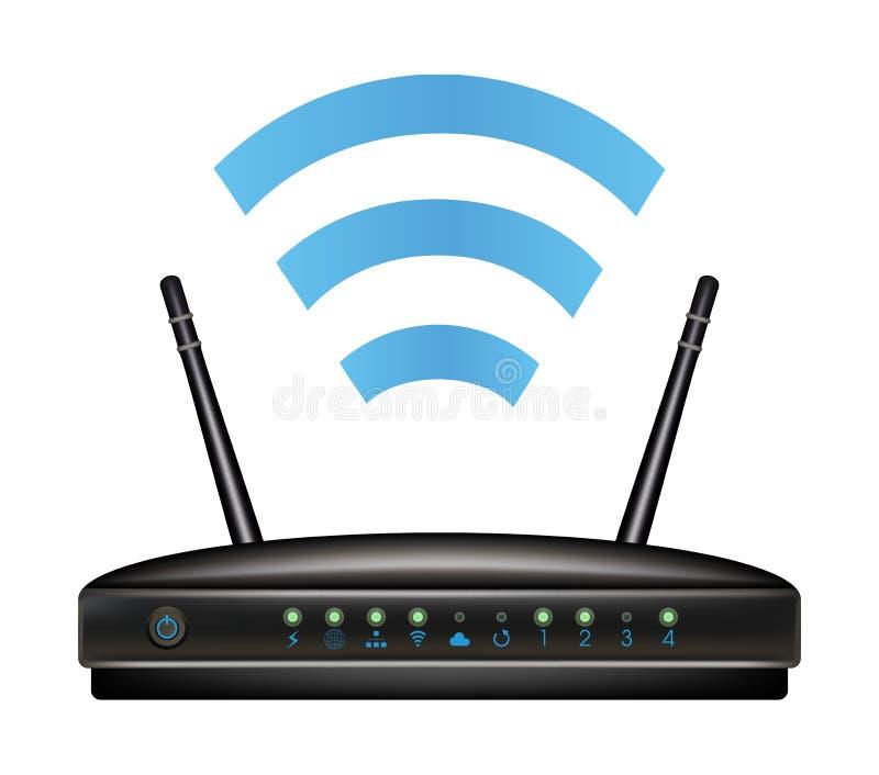 Wireless ethernet modem router vector illustration