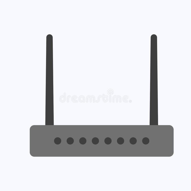 Wireless ethernet modem router stock illustration