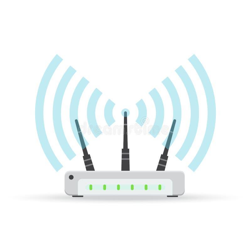 Wireless ethernet modem router sign, Vector illustration. royalty free illustration