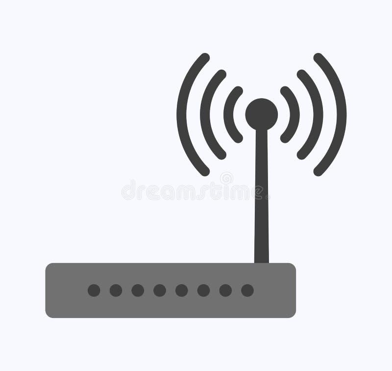 Wireless ethernet modem router royalty free illustration