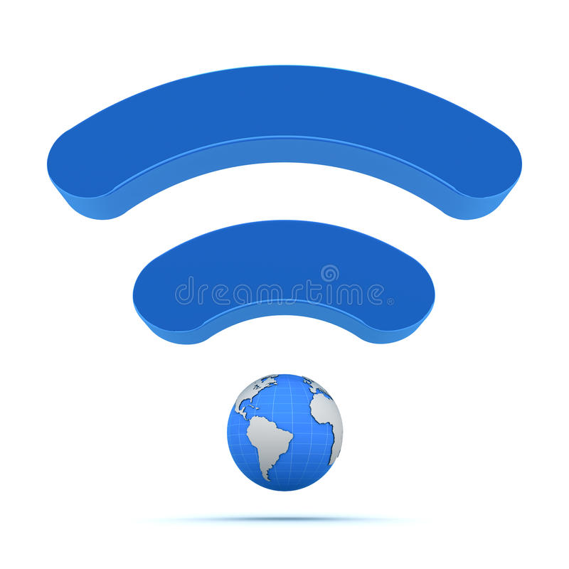 Wireless global technology. Wireless wifi global technology icon vector illustration
