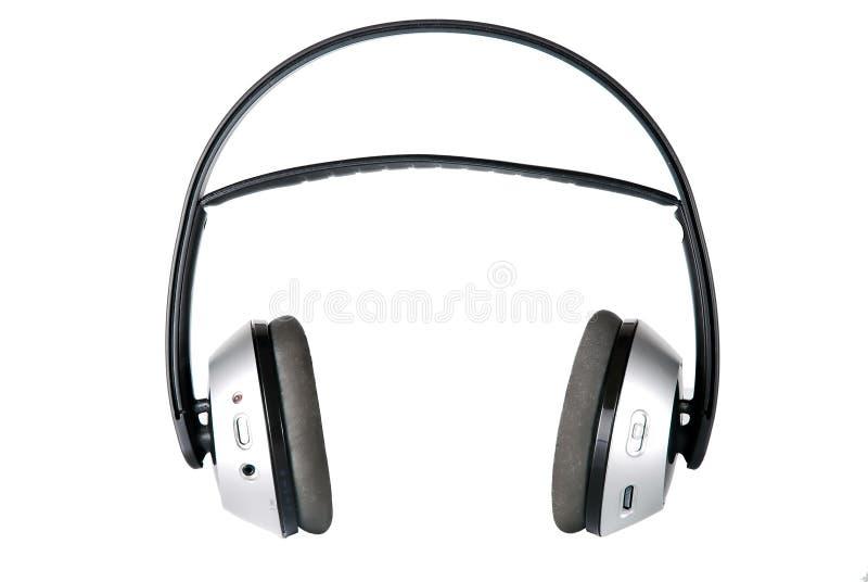 Wireless headphones stock photo