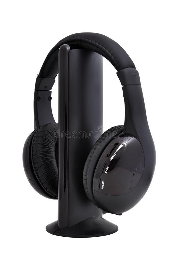 Wireless headphones stock photography