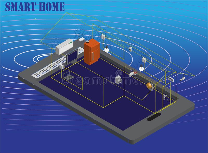 Wireless home network royalty free stock photo