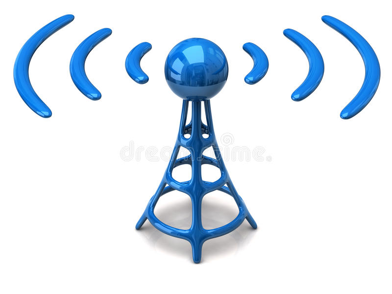 Wireless icon royalty free illustration