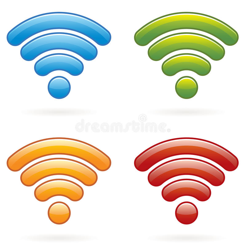 Free Wireless Icons EPS Royalty Free Stock Photography - 15732187