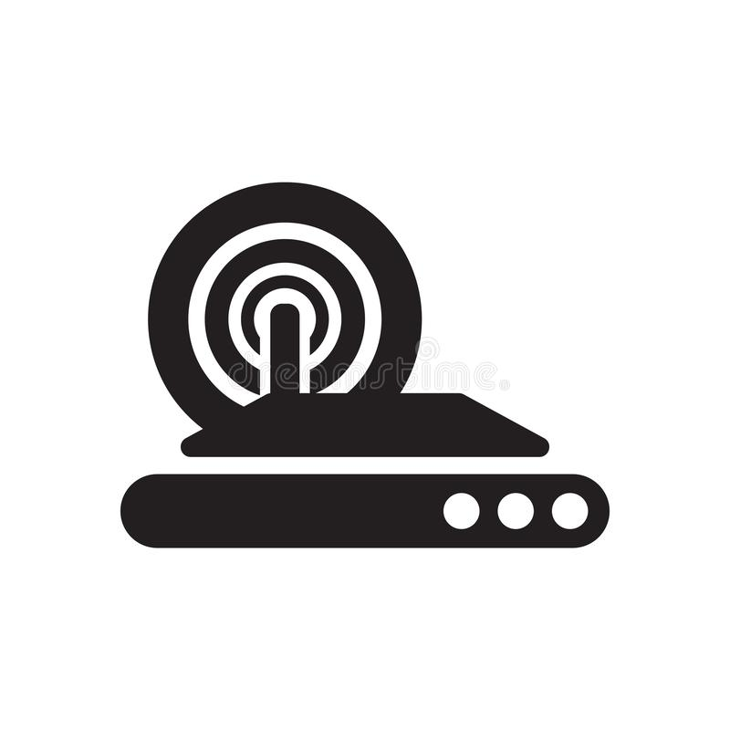 Wireless internet icon vector sign and symbol isolated on white background, Wireless internet logo concept vector illustration