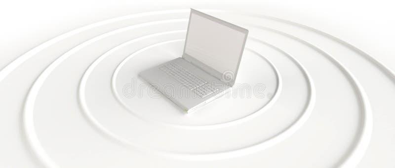 Download Wireless Laptop Sending WI-FI Signal Stock Illustration - Image: 21275568