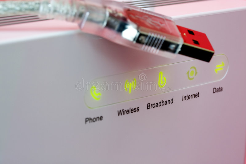 Wireless modem stock photos