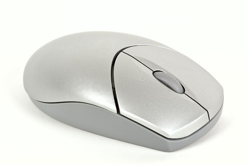 Wireless mouse isolated on white. royalty free stock photography
