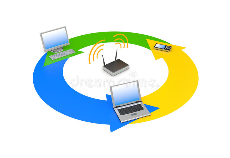 Download Wireless Network Royalty Free Stock Images - Image: 18936349