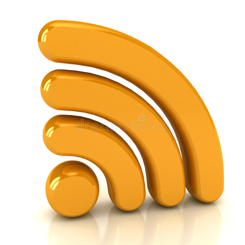 Download Wireless Network Sign Over White Stock Illustration - Illustration: 17503706