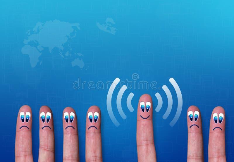 Download Wireless Network Wifi Fingers Metaphor Stock Image - Image: 30144881
