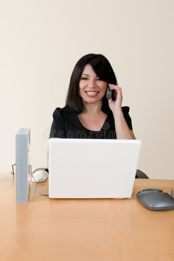 Wireless networking and voip royalty free stock photos