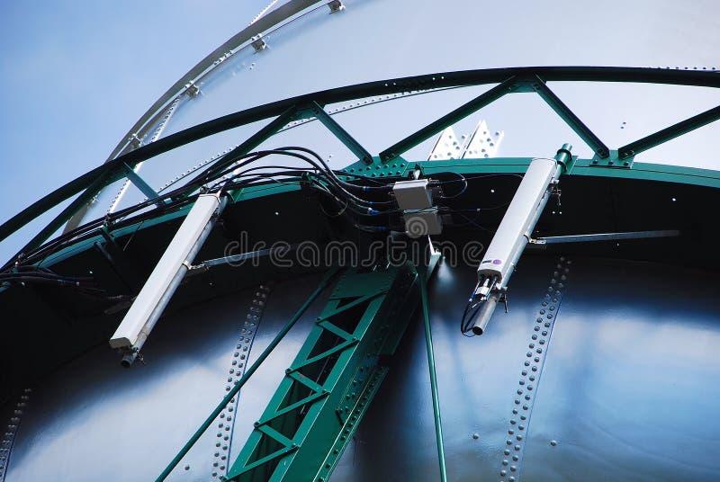 Wireless Panel Antennas. Mounted on Water Storage Tank royalty free stock image