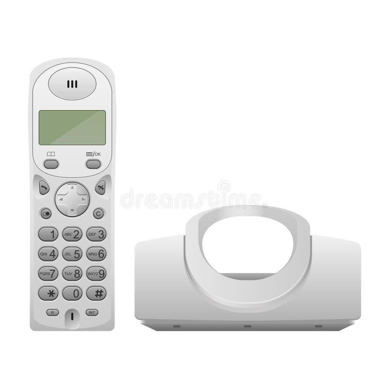 Wireless Phone With Cradle Stock Photos