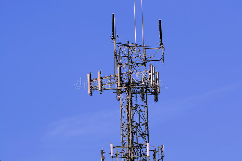 Download Wireless Relay Tower stock photo. Image of sunny, cloudless - 3224500