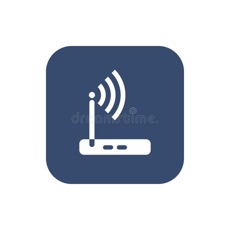 Wireless router icon wifi adsl ethernet modem hub . vector illustration