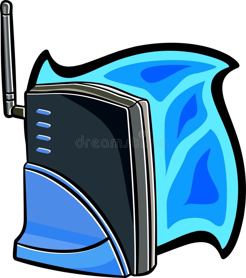 Wireless router or modem royalty free illustration