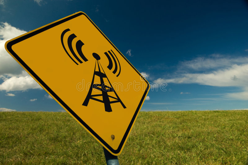 Download Wireless Sign stock image. Image of podcast, global, clouds - 6324835