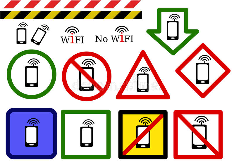 Download Wireless signs stock vector. Image of denied, green, perturb - 21369864