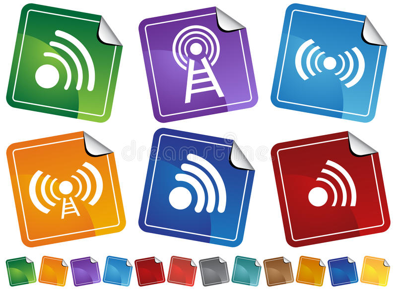 Download Wireless Stickers Stock Image - Image: 9488831