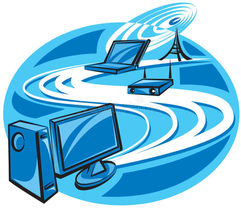 Download Wireless technology stock vector. Illustration of modern - 16745718