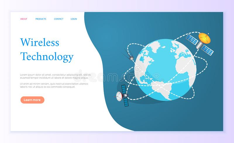 Wireless Technology Internet Page Global Network vector illustration