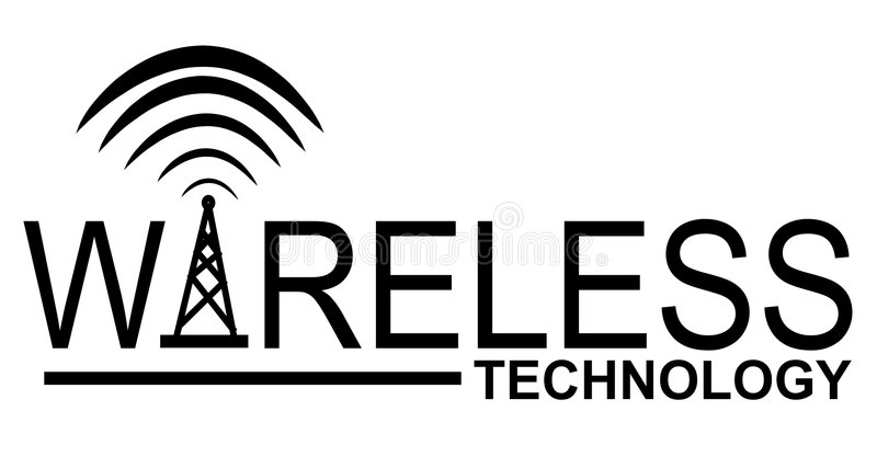 Download Wireless Technology Logo stock illustration. Illustration of connectivity - 3234676