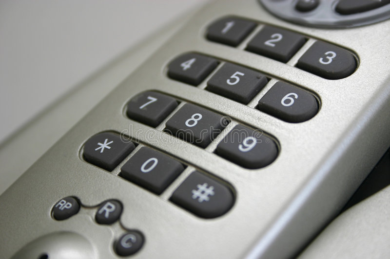 Wireless telephone number pad royalty free stock image