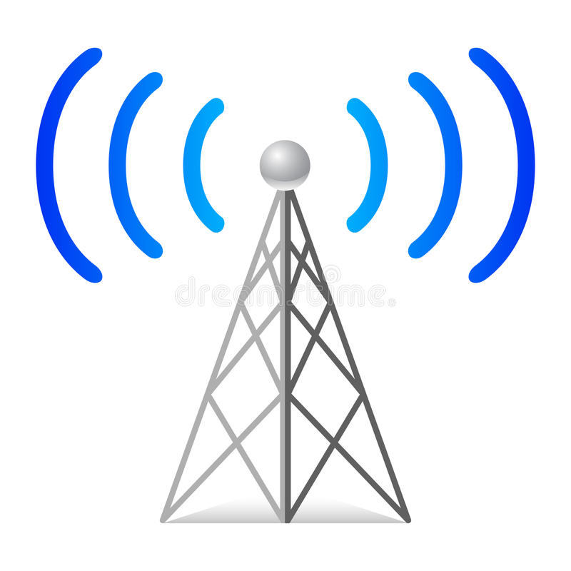 Download Wireless tower stock vector. Image of phone, sign, network - 12984112