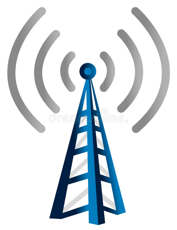 wireless tower stock vector illustration of clipart 15893393 rh dreamstime com Cell Tower Coverage Cell Tower Icon