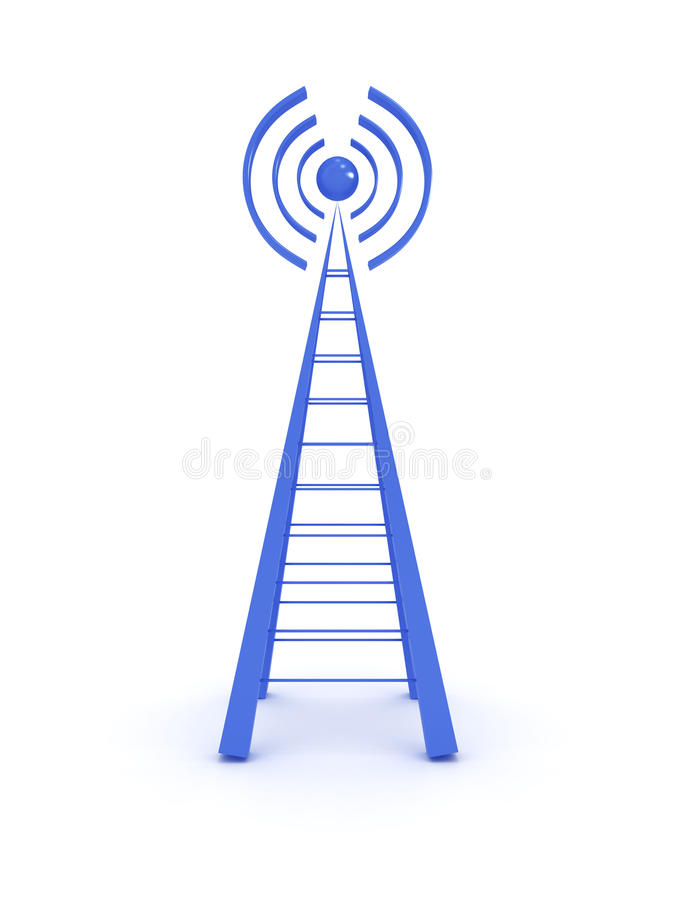 Download Wireless tower isolated stock illustration. Image of global - 22517502