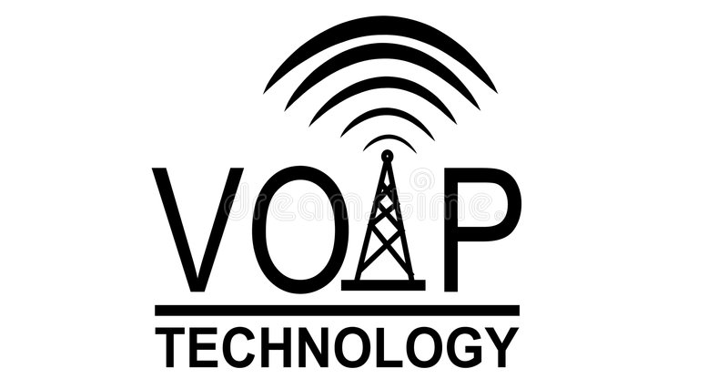 Wireless VOIP Technology Logo royalty free illustration