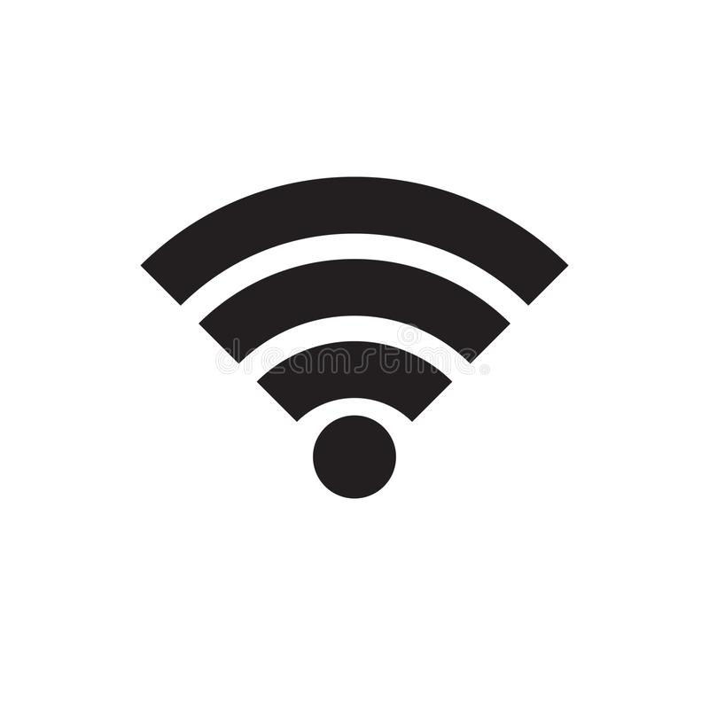 Wireless and wifi icon or wi-fi icon sign for remote internet access, Podcast vector symbol, vector illustration. Vector illustration on white background stock illustration