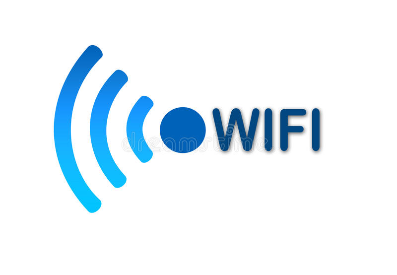 Wireless wifi network blue icon