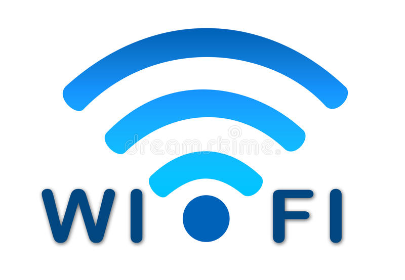 Download Wireless Wifi Network Blue Icon Royalty Free Stock Photo - Image: 29283485