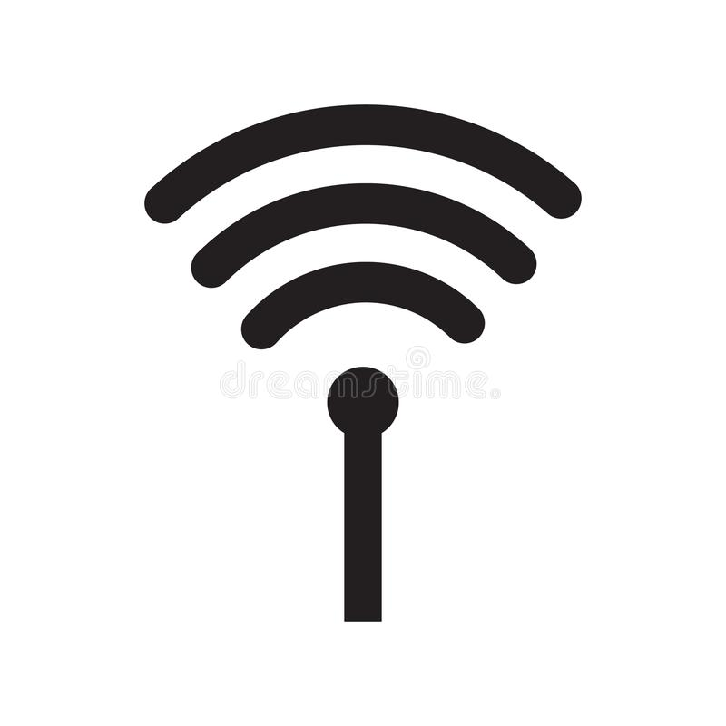 Wireless wifi or sign for remote internet access icon vector on white background, Flat style for graphic and web design royalty free illustration