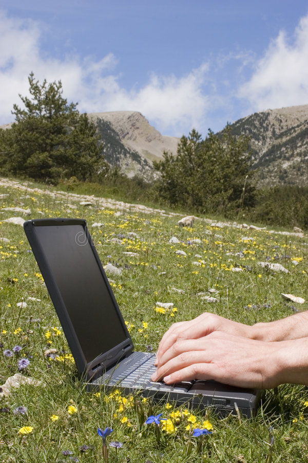 Download Wireless working stock image. Image of mountain, internet - 2666585