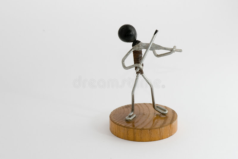 Wireman - violinista fotografia de stock royalty free