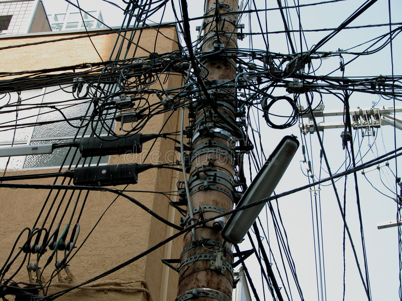 Download Wires stock photo. Image of lines, pole, wires, communication - 8234