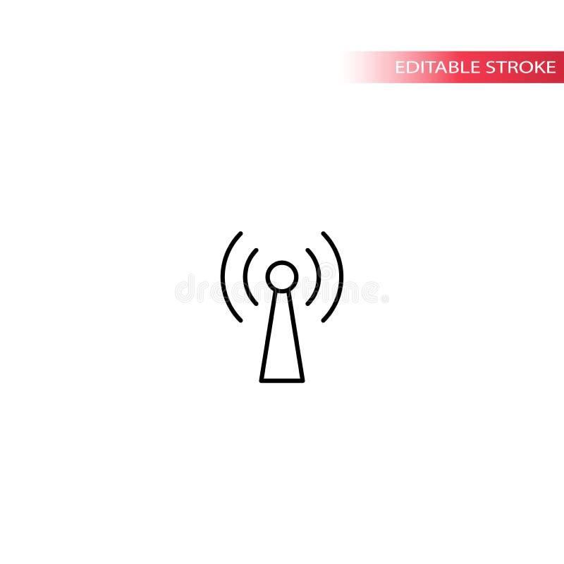 Wiresell symbolu bakanu cienka kreskowa wektorowa ikona ilustracji