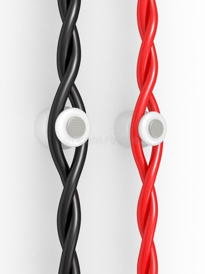 Download Wiring On Ceramic Insulators Stock Illustration - Illustration of tech, technology: 20510115