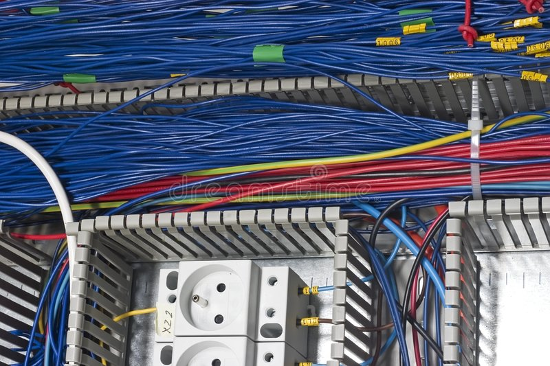 Download Wiring detail stock image. Image of signal, automatic - 4101345