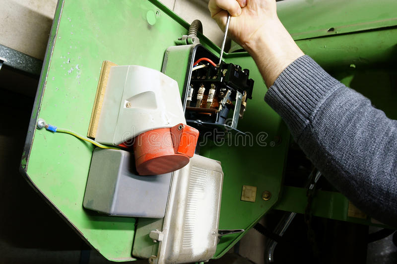 Download Wiring Industrial Machine A Stock Photo - Image: 39268438
