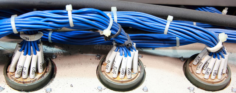 Wiring PLC stock photos