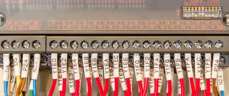Wiring PLC royalty free stock image